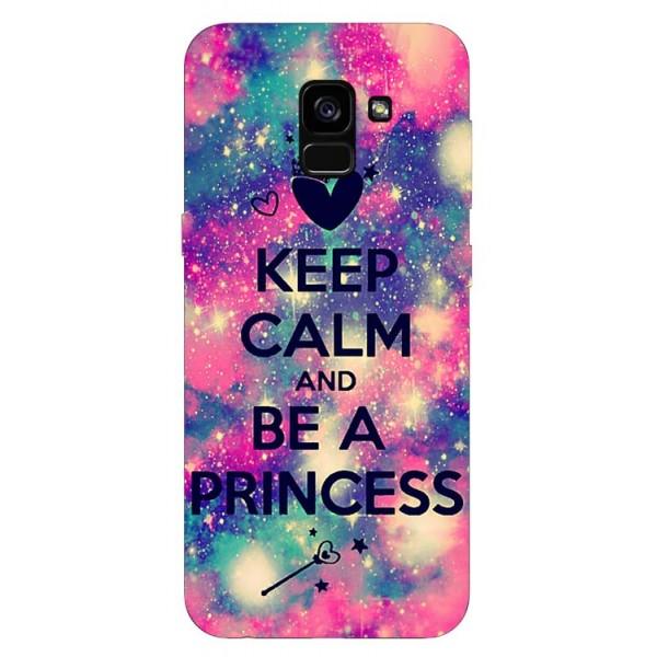 Husa Silicon Soft Upzz Print Samsung Galaxy A8 2018 Model Be Princess imagine itelmobile.ro 2021