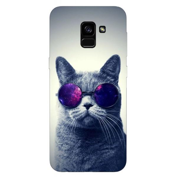 Husa Silicon Soft Upzz Print Samsung Galaxy A8 2018 Model Cool Cat imagine itelmobile.ro 2021