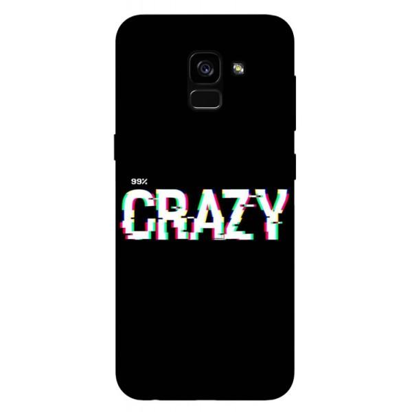 Husa Silicon Soft Upzz Print Samsung Galaxy A8 2018 Model Crazy imagine itelmobile.ro 2021