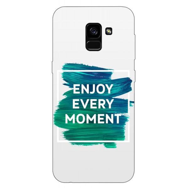Husa Silicon Soft Upzz Print Samsung Galaxy A8 2018 Model Enjoy imagine itelmobile.ro 2021