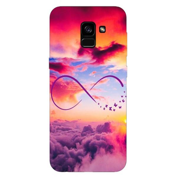 Husa Silicon Soft Upzz Print Samsung Galaxy A8 2018 Model Infinity imagine itelmobile.ro 2021