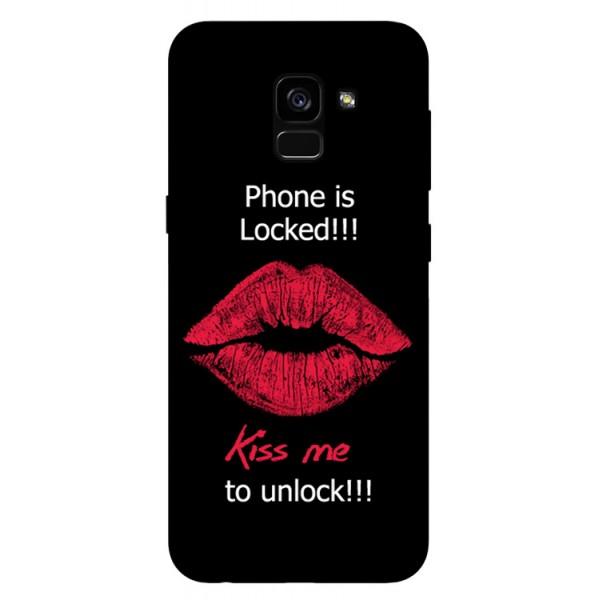 Husa Silicon Soft Upzz Print Samsung Galaxy A8 2018 Model Kiss imagine itelmobile.ro 2021
