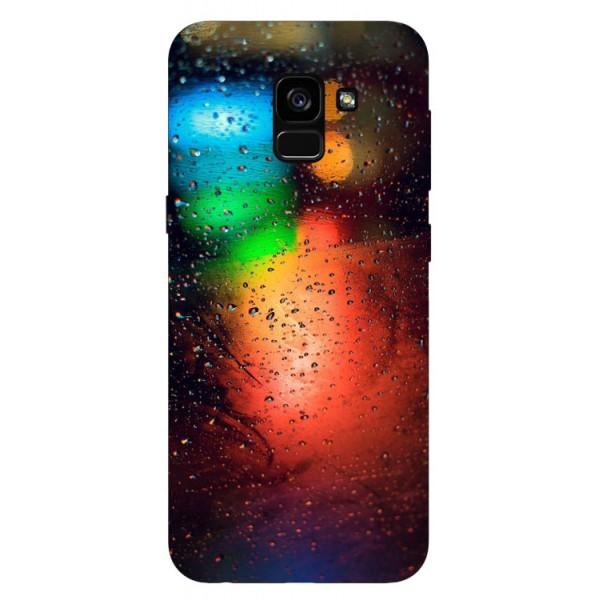 Husa Silicon Soft Upzz Print Samsung Galaxy A8 2018 Model Multicolor imagine itelmobile.ro 2021