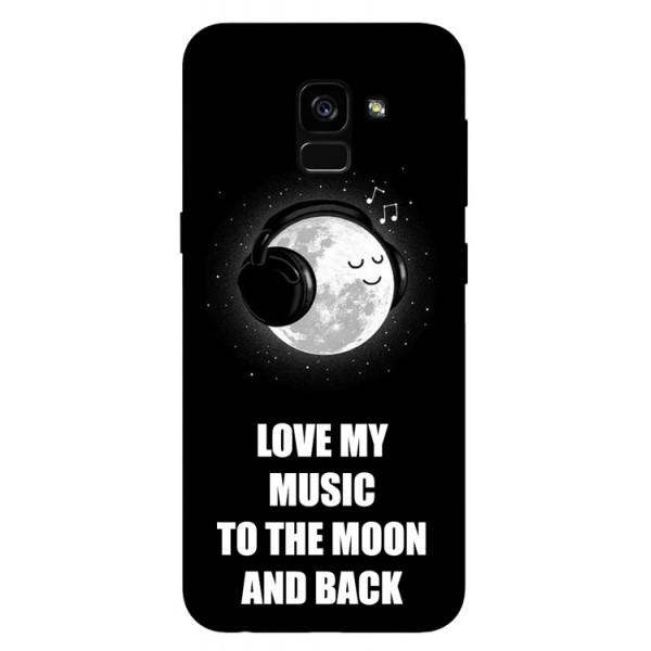 Husa Silicon Soft Upzz Print Samsung Galaxy A8 2018 Model Music imagine itelmobile.ro 2021