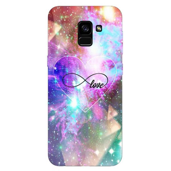 Husa Silicon Soft Upzz Print Samsung Galaxy A8 2018 Model Neon Love imagine itelmobile.ro 2021