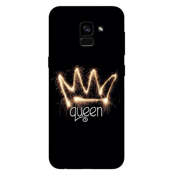 Husa Silicon Soft Upzz Print Samsung Galaxy A8 2018 Model Queen imagine itelmobile.ro 2021