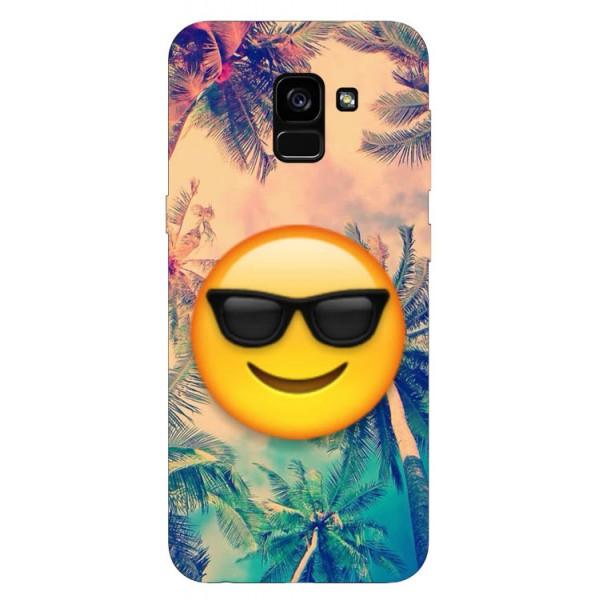 Husa Silicon Soft Upzz Print Samsung Galaxy A8 2018 Model Smile imagine itelmobile.ro 2021