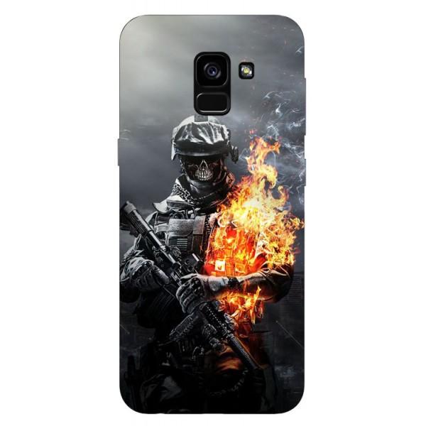 Husa Silicon Soft Upzz Print Samsung Galaxy A8 2018 Model Soldier imagine itelmobile.ro 2021