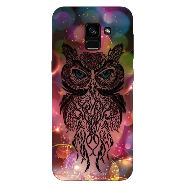 Husa Silicon Soft Upzz Print Samsung Galaxy A8 2018 Model Sparkle Owl imagine itelmobile.ro 2021