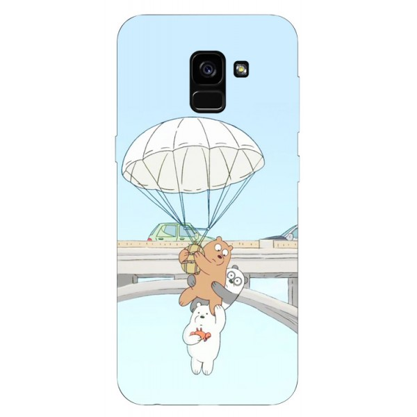 Husa Silicon Soft Upzz Print Samsung Galaxy A8 2018 Model Three Bears imagine itelmobile.ro 2021