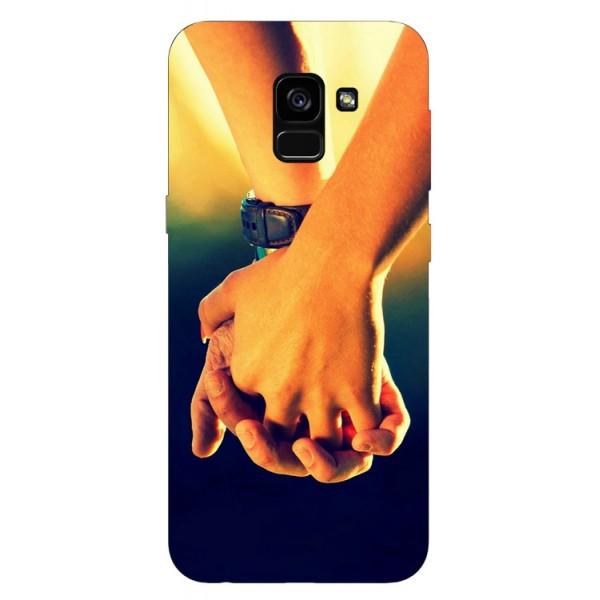Husa Silicon Soft Upzz Print Samsung Galaxy A8 2018 Model Together imagine itelmobile.ro 2021