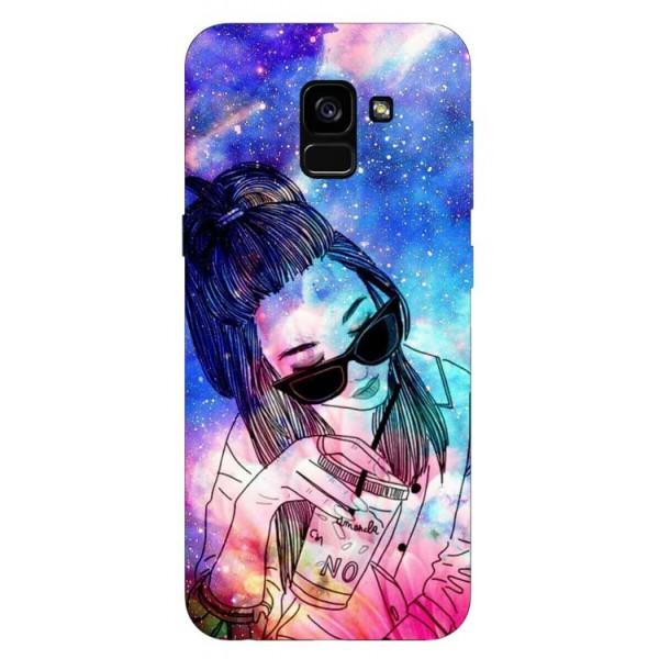 Husa Silicon Soft Upzz Print Samsung Galaxy A8 2018 Model Univers Girl imagine itelmobile.ro 2021