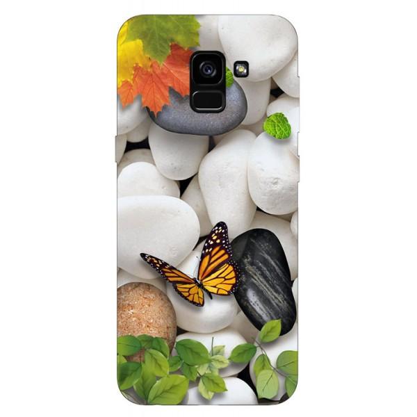 Husa Silicon Soft Upzz Print Samsung Galaxy A8 2018 Model Zen imagine itelmobile.ro 2021