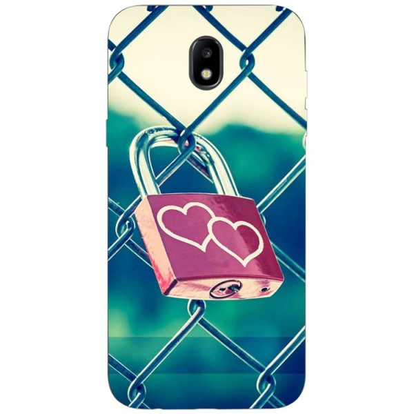 Husa Silicon Soft Upzz Print Samsung Galaxy J3 2017 Model Heart Lock imagine itelmobile.ro 2021