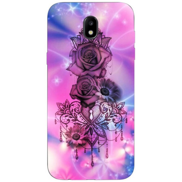 Husa Silicon Soft Upzz Print Samsung Galaxy J3 2017 Model Neon Rose imagine itelmobile.ro 2021