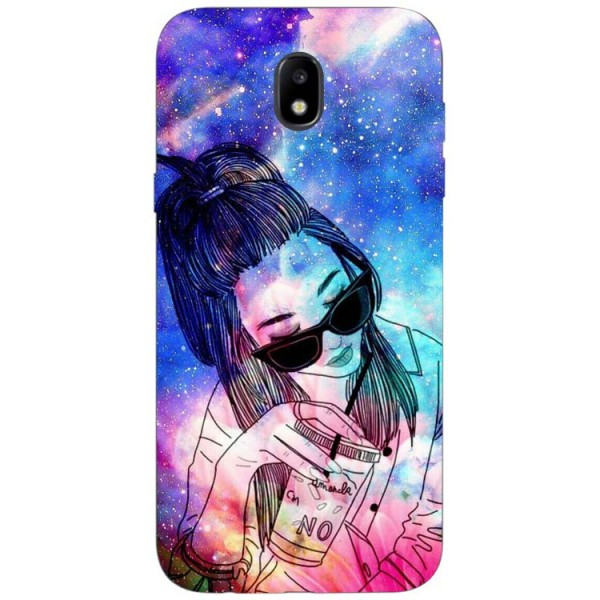 Husa Silicon Soft Upzz Print Samsung Galaxy J3 2017 Model Universe Girl imagine itelmobile.ro 2021