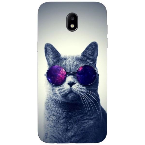 Husa Silicon Soft Upzz Print Samsung Galaxy J7 2017 Model Cool Cat imagine itelmobile.ro 2021