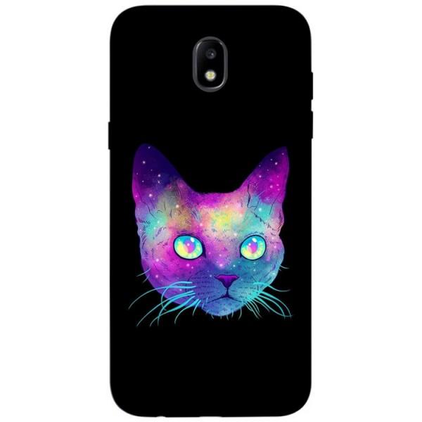 Husa Silicon Soft Upzz Print Samsung Galaxy J7 2017 Model Neon Cat imagine itelmobile.ro 2021