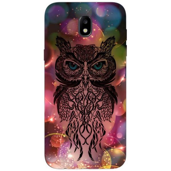 Husa Silicon Soft Upzz Print Samsung Galaxy J7 2017 Model Sparkle Owl imagine itelmobile.ro 2021