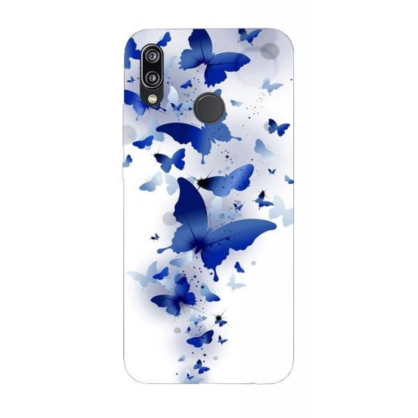Husa Silicon Soft Upzz Print Huawei P20 Lite Model Blue Butterflyes imagine itelmobile.ro 2021