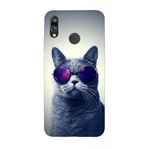 Husa Silicon Soft Upzz Print Huawei P20 Lite Model Cool Cat imagine itelmobile.ro 2021