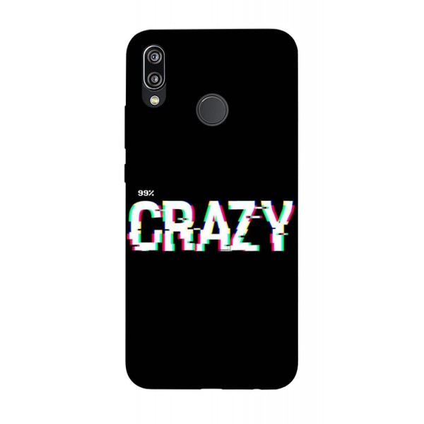 Husa Silicon Soft Upzz Print Huawei P20 Lite Model Crazy imagine itelmobile.ro 2021