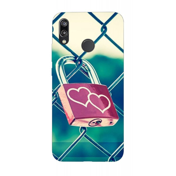 Husa Silicon Soft Upzz Print Huawei P20 Lite Model Heart Lock imagine itelmobile.ro 2021