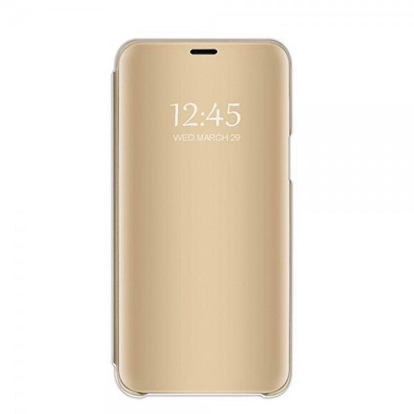Husa Tip Carte S View Mirror Huawei P30 Gold imagine itelmobile.ro 2021