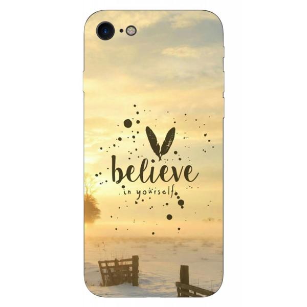 Husa Silicon Soft Upzz Print iPhone 7/iphone 8 Model Believe imagine itelmobile.ro 2021