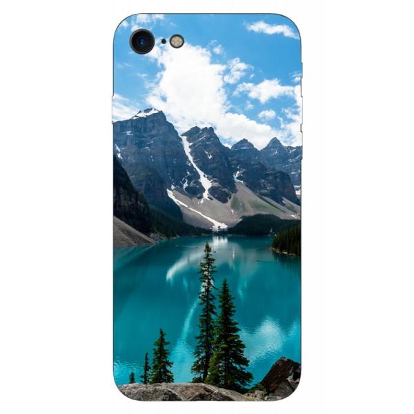 Husa Silicon Soft Upzz Print iPhone 7/iphone 8 Model Blue imagine itelmobile.ro 2021