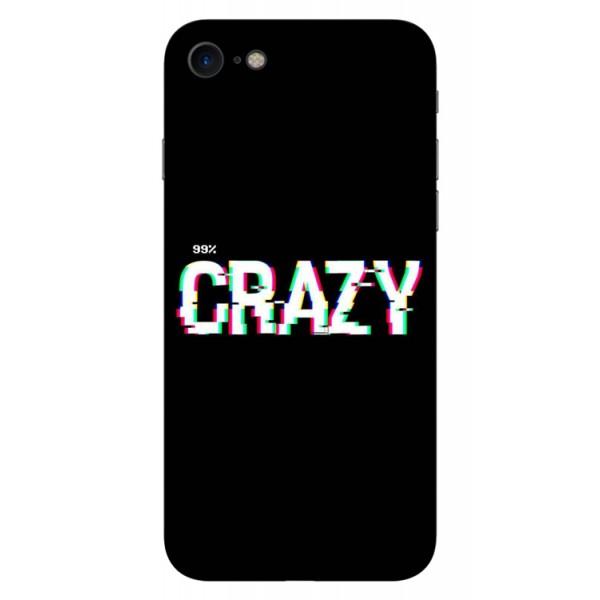 Husa Silicon Soft Upzz Print iPhone 7/iphone 8 Model Crazy imagine itelmobile.ro 2021