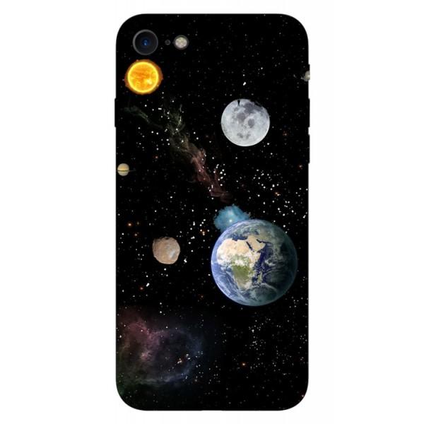 Husa Silicon Soft Upzz Print iPhone 7/iphone 8 Model Earth imagine itelmobile.ro 2021