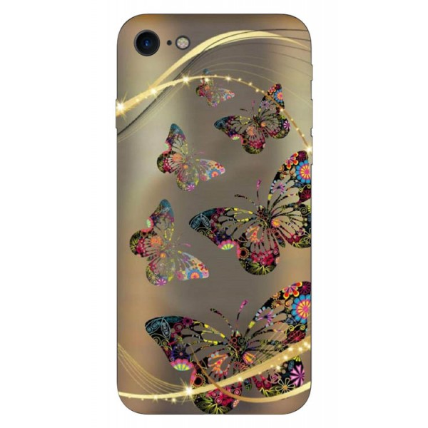 Husa Silicon Soft Upzz Print iPhone 7/iphone 8 Model Golden Butterflys imagine itelmobile.ro 2021