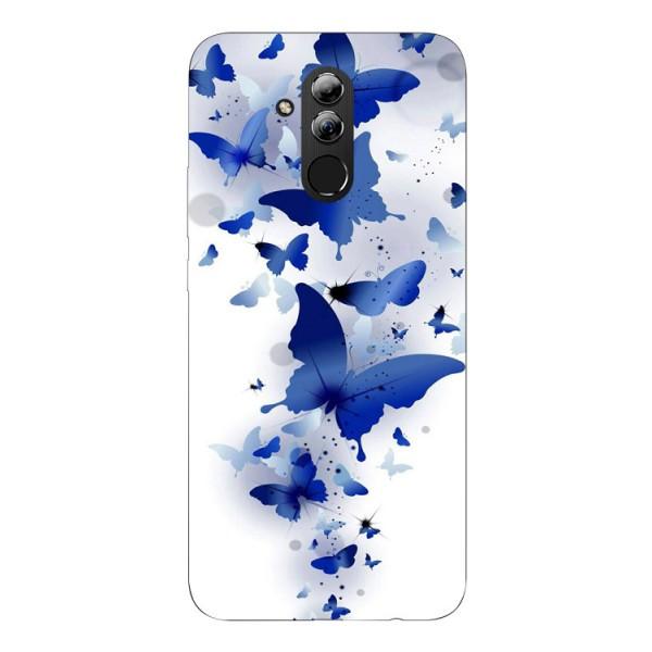 Husa Silicon Soft Upzz Print Huawei Mate 20 Lite Model Blue Butterflies imagine itelmobile.ro 2021