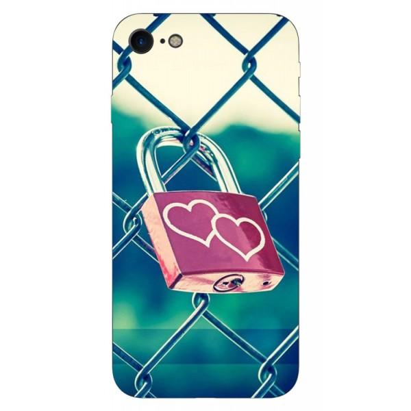 Husa Silicon Soft Upzz Print iPhone 7/iphone 8 Model Heart Lock imagine itelmobile.ro 2021