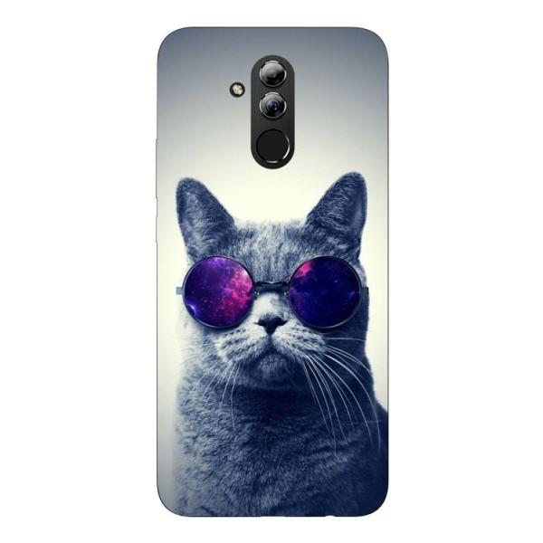 Husa Silicon Soft Upzz Print Huawei Mate 20 Lite Model Cool Cat imagine itelmobile.ro 2021