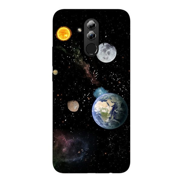 Husa Silicon Soft Upzz Print Huawei Mate 20 Lite Model Earth imagine itelmobile.ro 2021