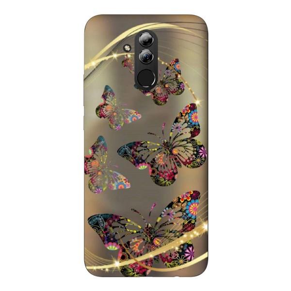 Husa Silicon Soft Upzz Print Huawei Mate 20 Lite Model Golden Butterfly imagine itelmobile.ro 2021
