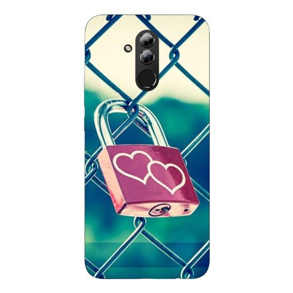 Husa Silicon Soft Upzz Print Huawei Mate 20 Lite Model Heart Lock imagine itelmobile.ro 2021
