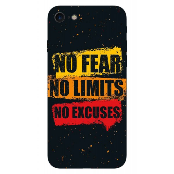 Husa Silicon Soft Upzz Print iPhone 7/iphone 8 Model No Fear imagine itelmobile.ro 2021