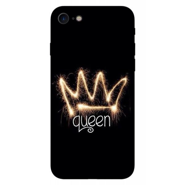 Husa Silicon Soft Upzz Print iPhone 7/iphone 8 Model Queen imagine itelmobile.ro 2021