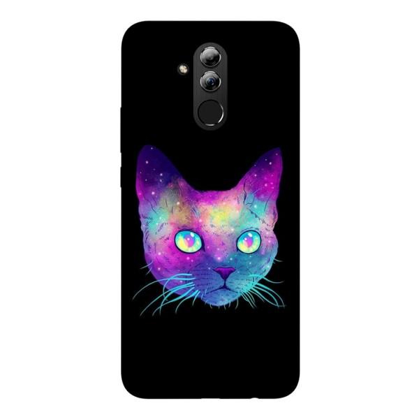 Husa Silicon Soft Upzz Print Huawei Mate 20 Lite Model Neon Cat imagine itelmobile.ro 2021