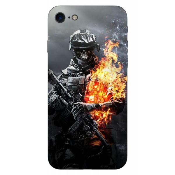 Husa Silicon Soft Upzz Print iPhone 7/iphone 8 Model Soldier imagine itelmobile.ro 2021