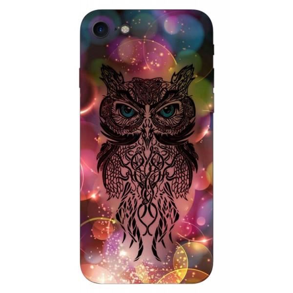 Husa Silicon Soft Upzz Print iPhone 7/iphone 8 Model Sparkle Owl imagine itelmobile.ro 2021