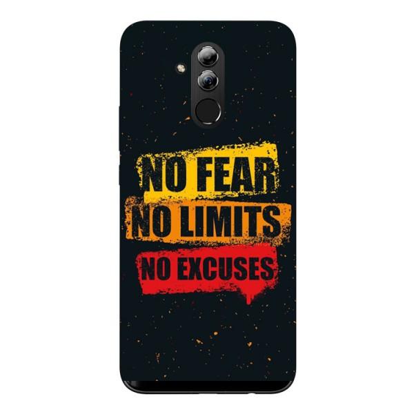 Husa Silicon Soft Upzz Print Huawei Mate 20 Lite Model No Fear imagine itelmobile.ro 2021