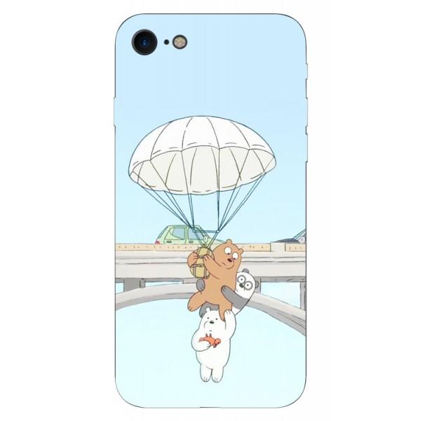 Husa Silicon Soft Upzz Print iPhone 7/iphone 8 Model Three Bears imagine itelmobile.ro 2021