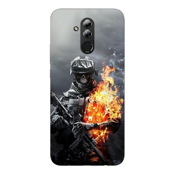 Husa Silicon Soft Upzz Print Huawei Mate 20 Lite Model Soldier imagine itelmobile.ro 2021