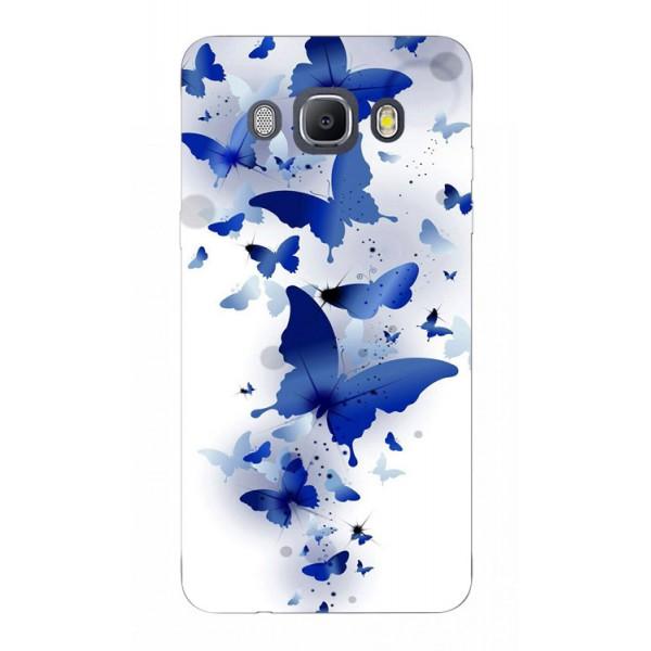 Husa Silicon Soft Upzz Print Samsung J5 2016 Model Blue Butterflyes imagine itelmobile.ro 2021