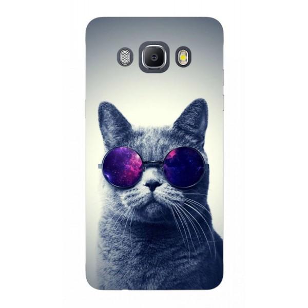 Husa Silicon Soft Upzz Print Samsung J5 2016 Model Cool Cat imagine itelmobile.ro 2021