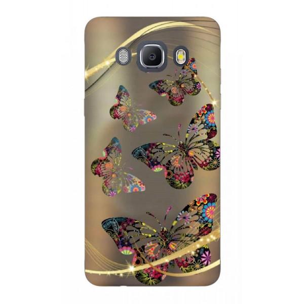 Husa Silicon Soft Upzz Print Samsung J5 2016 Model Golden Butterflys imagine itelmobile.ro 2021